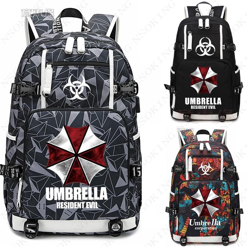 Hot Game Evil 7 Bio Hazard Umbrella Backpack Cosplay Biohazard Nero Dante Oxford Bag Schoolbag Travel Bags