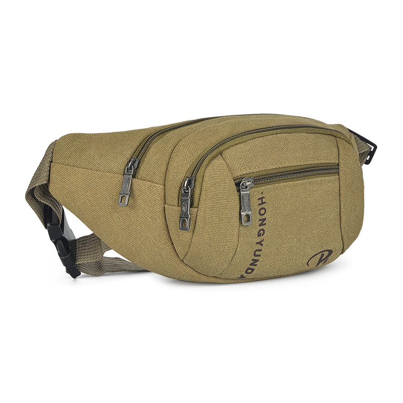 New Style Washing Canvas Waist Pack Men Mobile Phone Storgage Bag Stall Cash Storage Wallet Multi-functional Outdoor Sport Waist