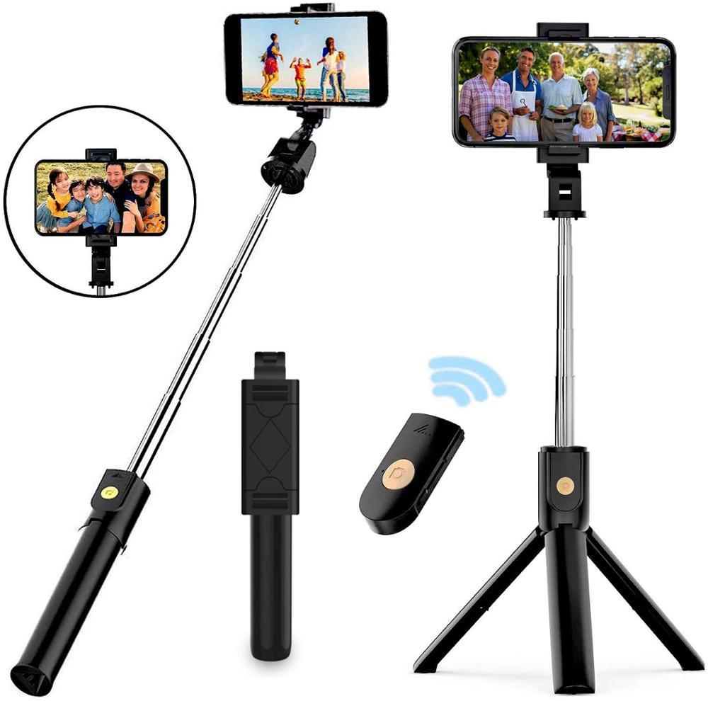 Выдвижная селфи-палка YTOM 3 в 1, штатив со съемным Bluetooth беспроводным дистанционным держателем для телефона для смартфона