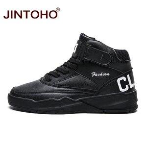 Image 4 - JINTOHO mężczyźni zimowe buty moda białe skórzane trampki Casual męskie botki męskie skórzane buty zimowe męskie buty męskie botki