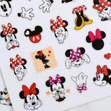 1PCS Mickey Minnie Mouse Disney Nail Art Sticker Snow White Frozen Nail Art Decoration Applique Adhesive Repair Accessories