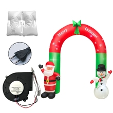 Toys Garden Inflatable Arch-Decoration Led-Light Blow-Up Christmas Outdoor Santa Yard