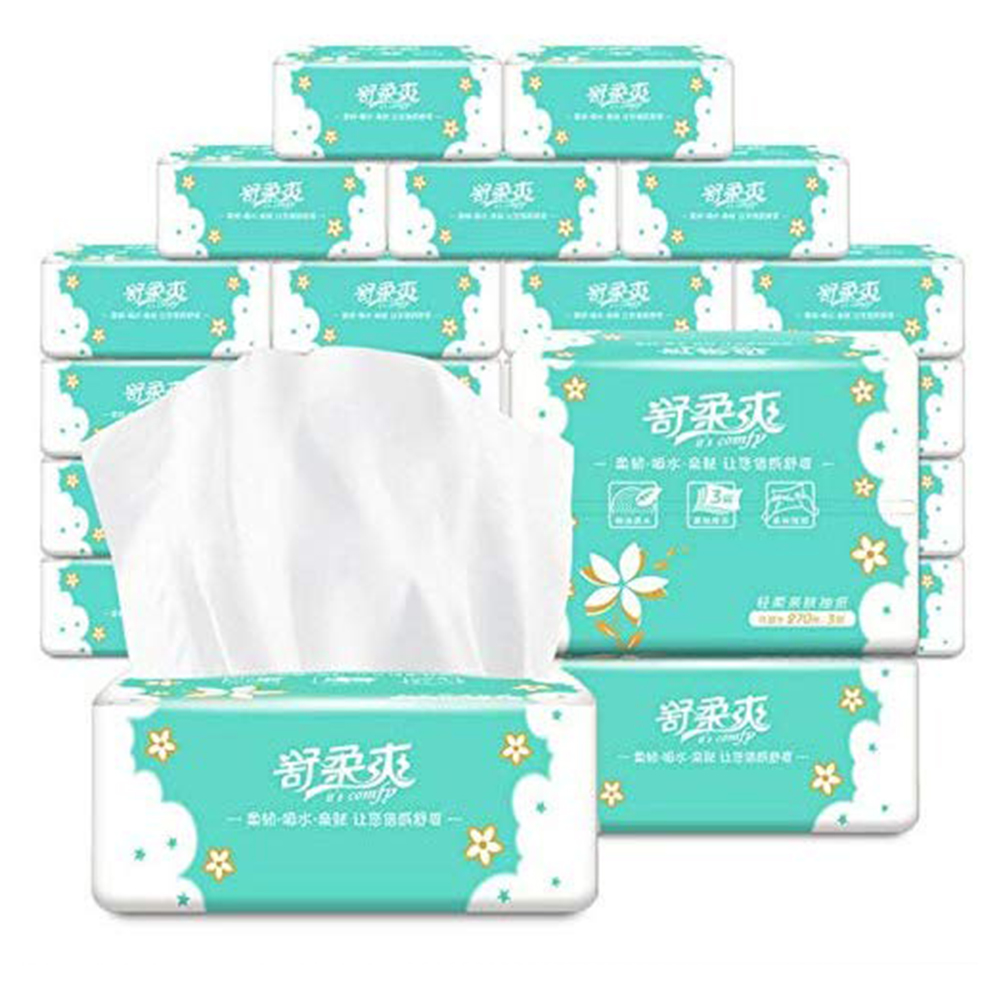 1PC Native Wood Pulp Tissue Household Kitchen Comfortable Soft Bathroom Toilet Paper No Fragrance Hotel Home Toilet Tissue