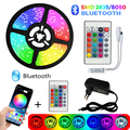 Светодиодная лента с Bluetooth, светильник s, 15 м, RGB, 5050, SMD 2835, гибкая лента, RGB, светодиодный светильник, 5 м, 10 м, диод, DC, 12 В, IR, Bluetooth