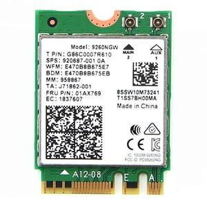 Image 2 - Desktop Del Computer PC Senza Fili 9260NGW Dual Band 1730Mbps WiFi 9260AC Bluetooth 5.0 MU MIMO Gaming Wlan PCI E Carta di 1X Finestre 10