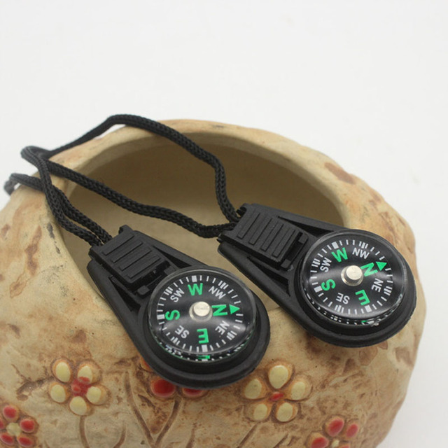 Mini Compass Survival Kit with Keychain for Outdoor Camping Hiking Hunting 3