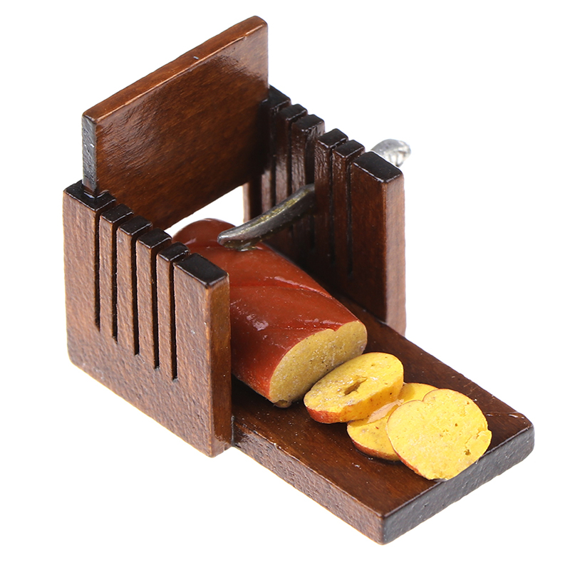 Mini Cute Bread Slicer Model Slicer Kitchen Food House Accessories Breakfast Carft Chidren Gifts 1:12 Doll House Miniature