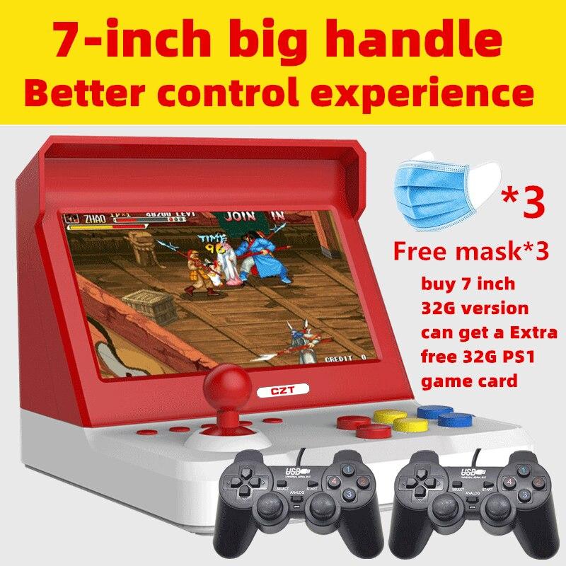 New 7 0 4 3 inch Quad-core Big rocker retro mini arcade console build in 9000 game arcade neogeo cp1 cp2 gbc gb sens nes smd