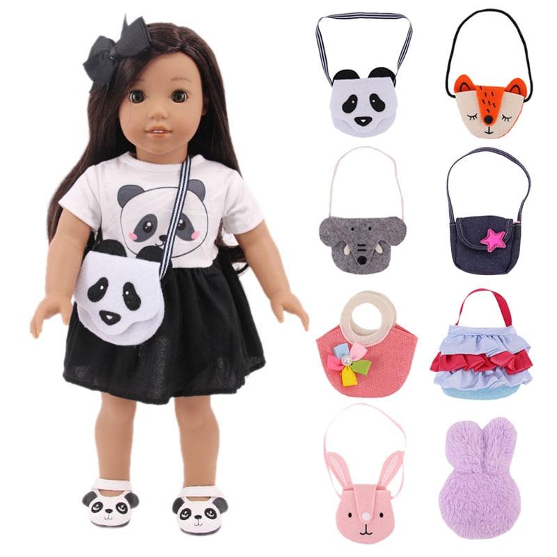 Fashion Handbag,Diagonal Bag Doll Accessories Decoration For 18 Inch American Doll Girl&14inch Wellie Wisher&32-34Cm Paola Reina