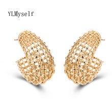 Серьги кольца женские большого размера круглые ювелирные украшения