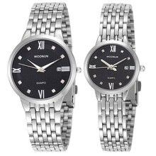 Топ бренд роскошь пара часы 2020 WOONUN нержавеющая сталь кварц пара часы для любителей мода мужчины женщины часы продвижение