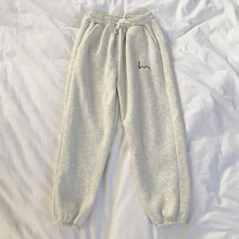 Spodnie damskie nowe modne koreańskie solidna z koronkowym Up rozciągliwa talia spodnie dorywczo luźna szeroka nogawka Femme tanie tanio Poliester Mikrofibra Kostki długości spodnie CN (pochodzenie) Zima Stałe Formalne Proste Mieszkanie REGULAR Osób w wieku 18-35 lat