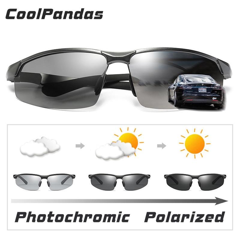 Image 2 - CoolPandas Brand Photochromic Sunglasses Men Polarized Chameleon Male Sport Sun Glasses Day Night Vision Driving zonnebril herenMens Sunglasses   -