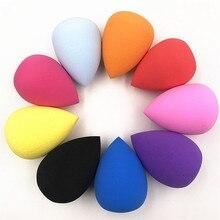1 Uds esponja cosmética para polvos Puff suave base de maquillaje esponja belleza para maquillaje herramientas accesorios forma de gota de agua