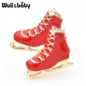 Wuli & baby, брошь в виде Черные, белые, красные льда броши