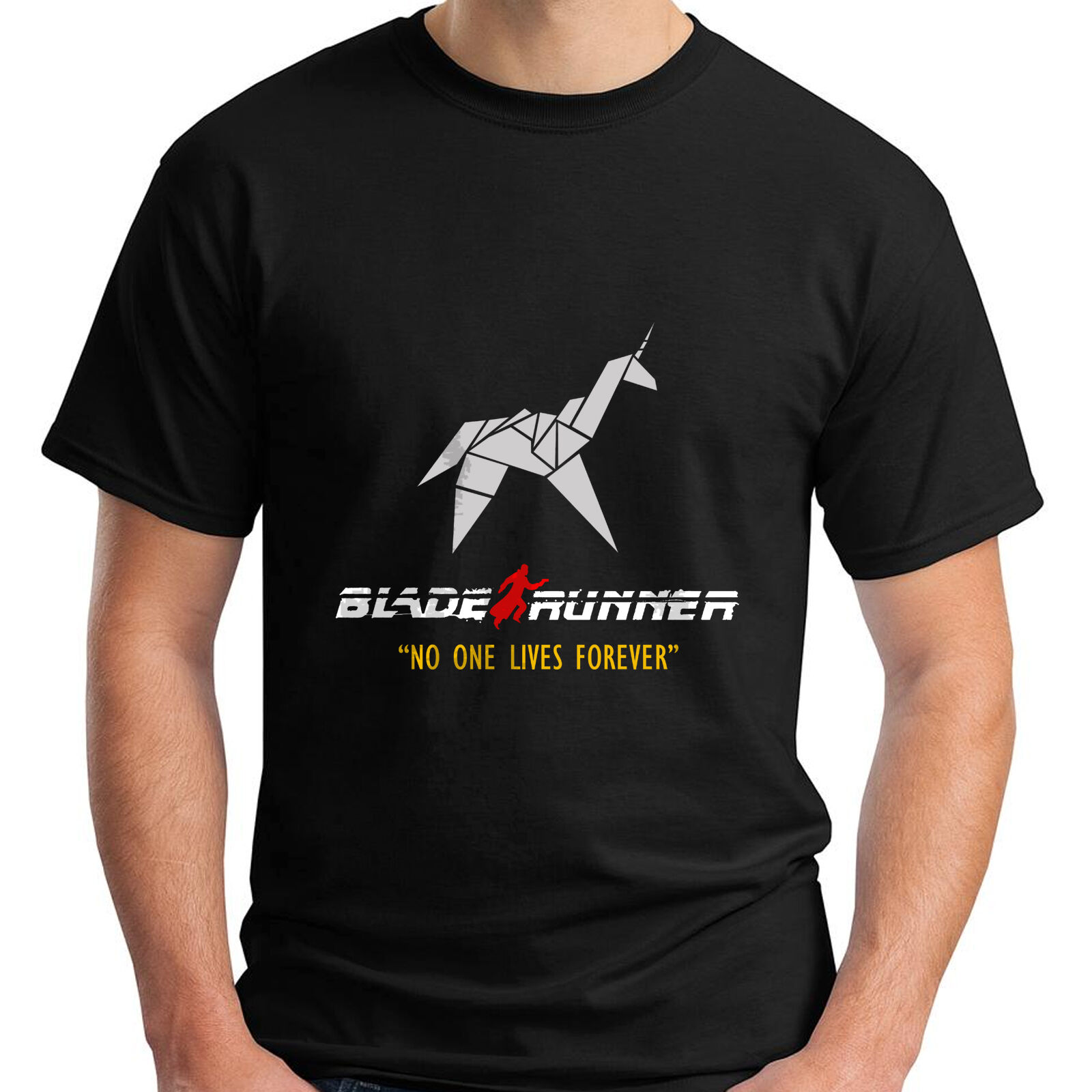 New BLADE RUNNER ORIGAMI UNICORN - Retro 80's Classic SCI FI Movie T-Shirt s-3xl O-Neck T Shirt Harajuku Tops Tees image