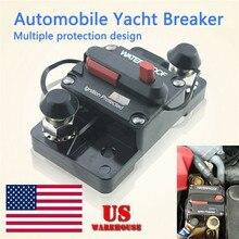 Devre kesici sigorta sıfırlama 60A-300A AMP 12-48V DC araba tekne oto su geçirmez