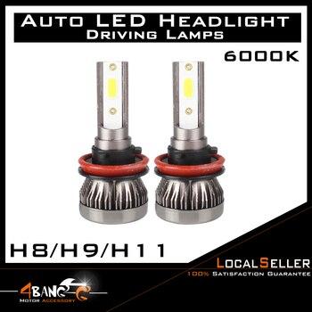 VEHICLE Front Headlamps Fog Tail Globes Power H8 H9 H11 LED White Light Headlight Kit Bulb 2 Set