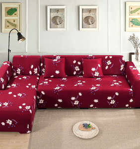 Sofa-Cover Chaise Living-Room Elastic L-Shaped-Corner 2pieces-If for Please-Order Longue