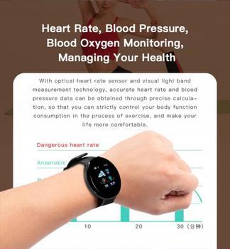 D18S Smart Watch Man Women Fitness Blood Pressure Heart Rate Monitor Pedometer Fashion Watches Sports Waterproof SmartWatch 3