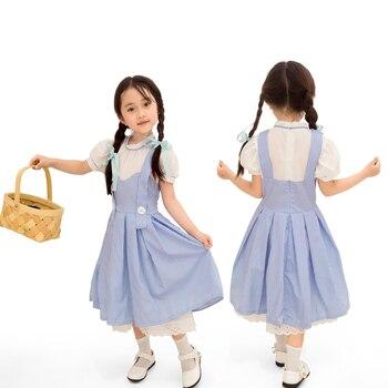 Disfraz de la familia de las niñas Wizard of OZ vestido de Cosplay de la princesa de Halloween para niños disfraces de fiesta de disfraces