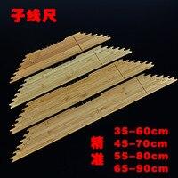 Sub linha régua placa de bambu amarrado gancho ferramenta pesca pesca engrenagem|Holofotes| |  -