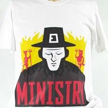 MINISTRY INDUSTRIAL METAL ROCK T-SHIRT prong kmfdm revolting cocks S-3XL New Tops 2019 Print Letters Men T-Shirt