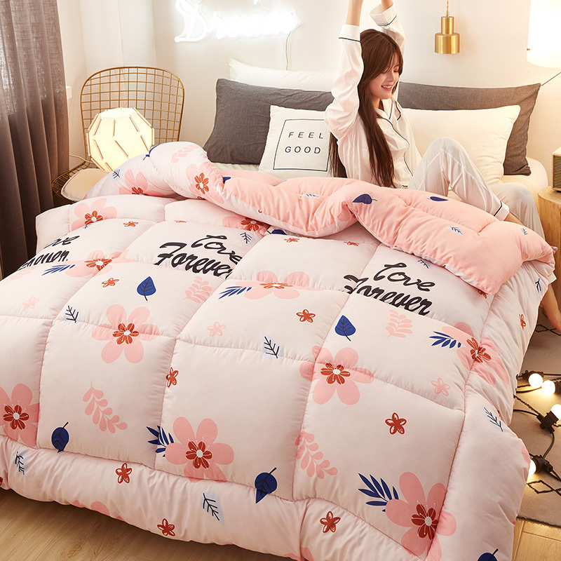 New Winter Jacquard Polyester Thicken Blanket  Winter Comforter Home Bedding Quilt Printed Keep Warm Winter Duvet Cover With Pad