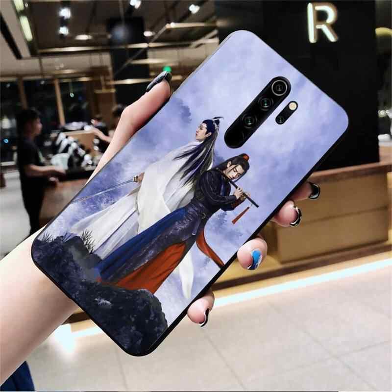 HPCHCJHM Wang Yibo Xiao Zhan en olgunlaşmamış siyah telefon kılıfı çapa Redmi not 9 8 8T 8A 7 6 6A git Pro Max Redmi 9 K20