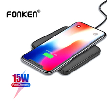 FONKEN 15W Wireless Charger For Iphone XIaomi Samsung QI Fast Charging Pad Cordless Smartphone Charg