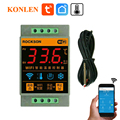 Tuya Smart Leben WIFI Temperatur Sensor Heizung Kessel Kühlen Controller Remote Schalter Thermometer Thermostat Alarm App Control
