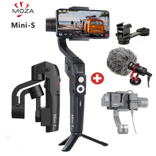лучшая цена RU Stock MOZA Mini S Foldable 3-Axis Handheld Gimbal Stabilizer for IOS10.0 iPhones Andriod 8.1 Smart Phones Gopro 5/6/7