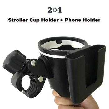 2 w 1 uchwyt na kubek do wózka dziecięcego + uchwyt na telefon akcesoria dla wózków dziecięcych do stojaka na butelki na mleko uchwyt na bidon rowerowy tanie i dobre opinie CN (pochodzenie) Wiskoza Z tworzywa sztucznego STAINLESS STEEL cup holder 0-3 M 4-6 M 7-9 M 10-12 M 13-18 M 19-24 M 2-3Y