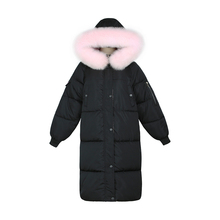 Winter 2019 New Fashion Parka Women Sustans Casual Pockets Fur Hooded A Line Thick X Long Zipper Snow Jackets Coats Plus Size