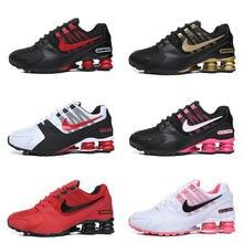 Quente shox avenive nz 2 802 2 loopschoenen ademende casual schoenen voor r4 mannen shose vrouwen esporte schoenen 10 kleuren maten