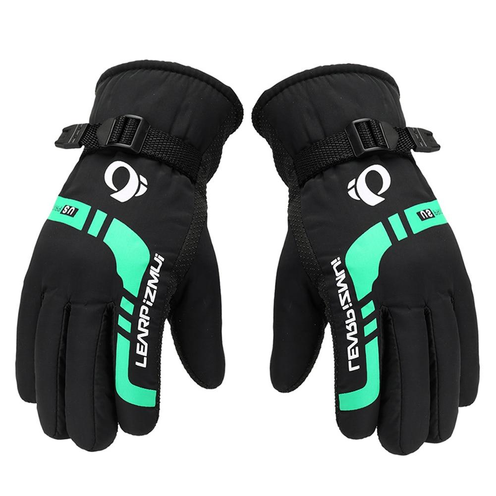 Мужские Женские Детские лыжные перчатки для сноуборда Водонепроницаемые зимние теплые флисовые перчатки для езды на мотоцикле и снегоходе лыжные перчатки