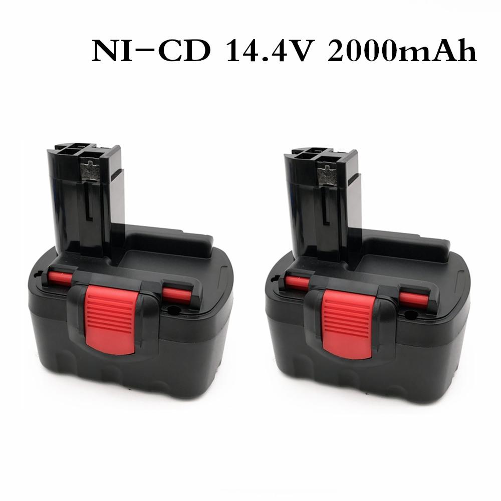 BAT038 14.4V 2000mAh Rechargeable Battery for bosch 14.4V Battery BAT038 BAT040 BAT140 BAT159 BAT041 3660K NI CD|Replacement Batteries| |  - title=