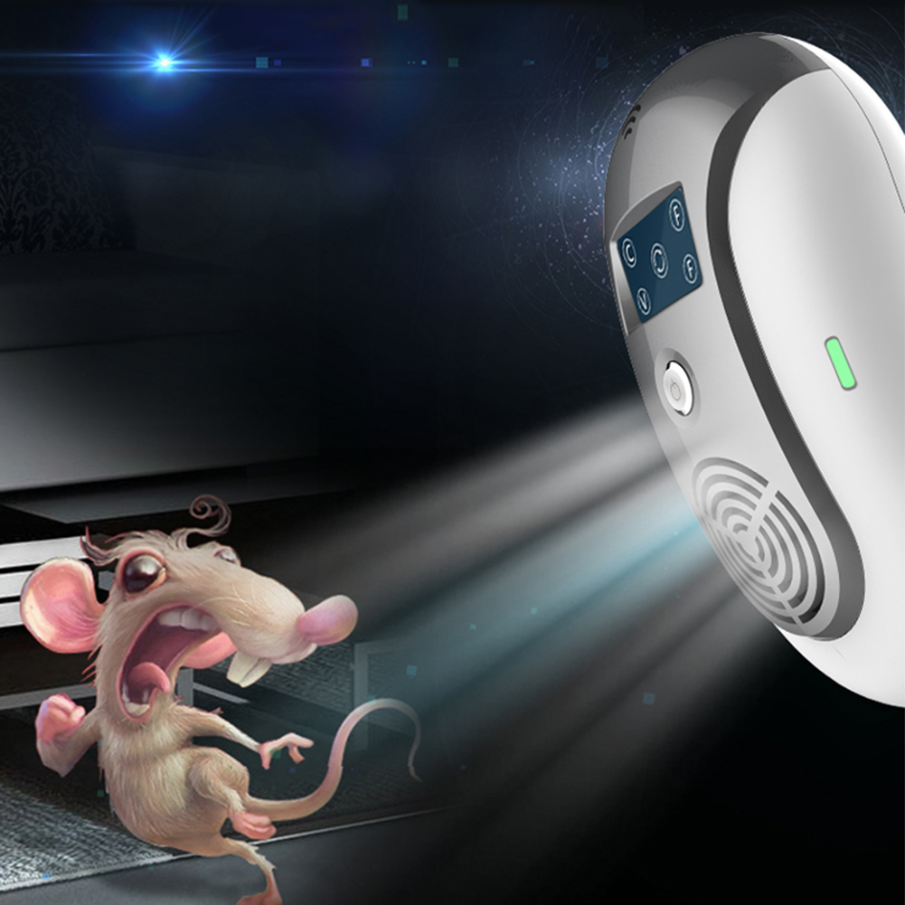 Electronic Pest Control Ultrasonic Pest Repeller Home Anti Mosquito Repellent Killer Rodent Bug Reject Mole Mice