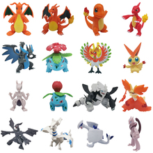 Takara tomy 6-8cm cartoon charizard aggron mewtwo dragonite ivysaur venusaur charmeleon pikachu pokemons figuras figura brinquedos