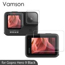 Vamson for Gopro Hero 9 Black Tempered Glass Screen Protector Action Camera Lens Screen