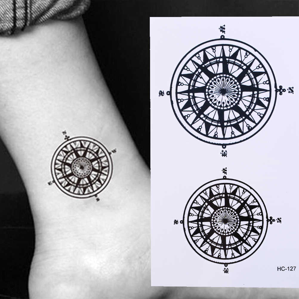 Pegatina de tatuaje temporal a prueba de agua, símbolo del contrato Black Butler con brújula, tatuaje de anime, tatuaje instantáneo, tatuajes falsos para hombres y mujeres