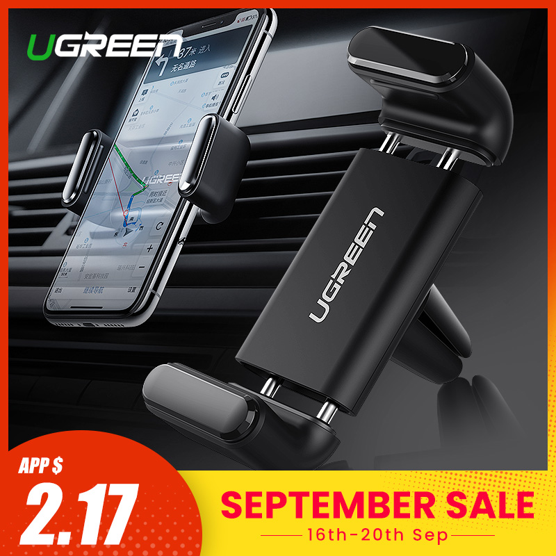 Ugreen Car Phone Holder For Phone In Car 360° Air Vent Mount Clip Stand Cellphone Suppport Holders for iPhone X 7 Mobile Holder