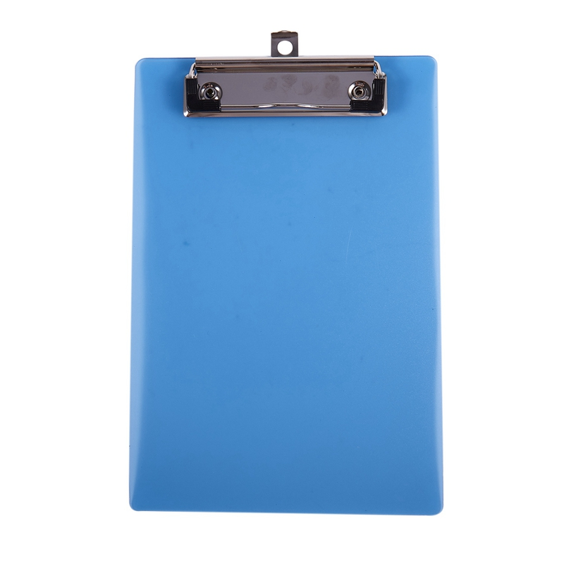 Office School Spring Loaded A5 Paper Holding File Clamp Clip Board Blue & Plastic A6 Clipboard Folder With Lid Clipboard Orange
