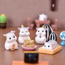 1 Hamster Figurine Decoration Craft Miniature Model Home Decoration Cute Accessories Desktop Garden Decoration