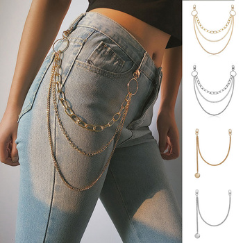 Street HipHop Kpop Accessories Pant Keychain Big Ring Pendant Chain Rock Punk Trousers Hipster Key Chains Pant Jean Keychain street big ring key chain rock punk trousers hipster key chains pant belt jean keychain hiphop portachiavi kpop accessories kl08