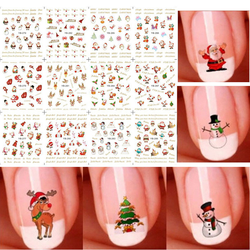Christmas Nail Sticker Large Sheet Stick Completely Nail Sticker Series