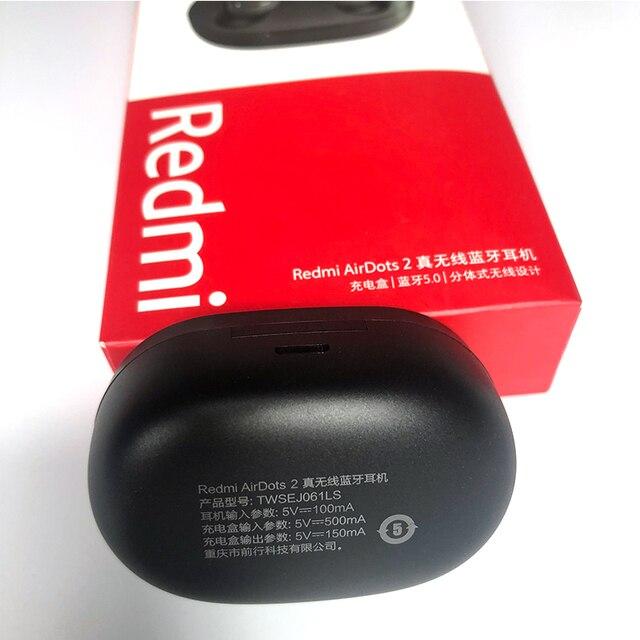 2020 nova xiaomi redmi airdots s 2 tws mi verdadeiro airdots2 sem fio bluetooth fone de ouvido estéreo baixo bluetooth