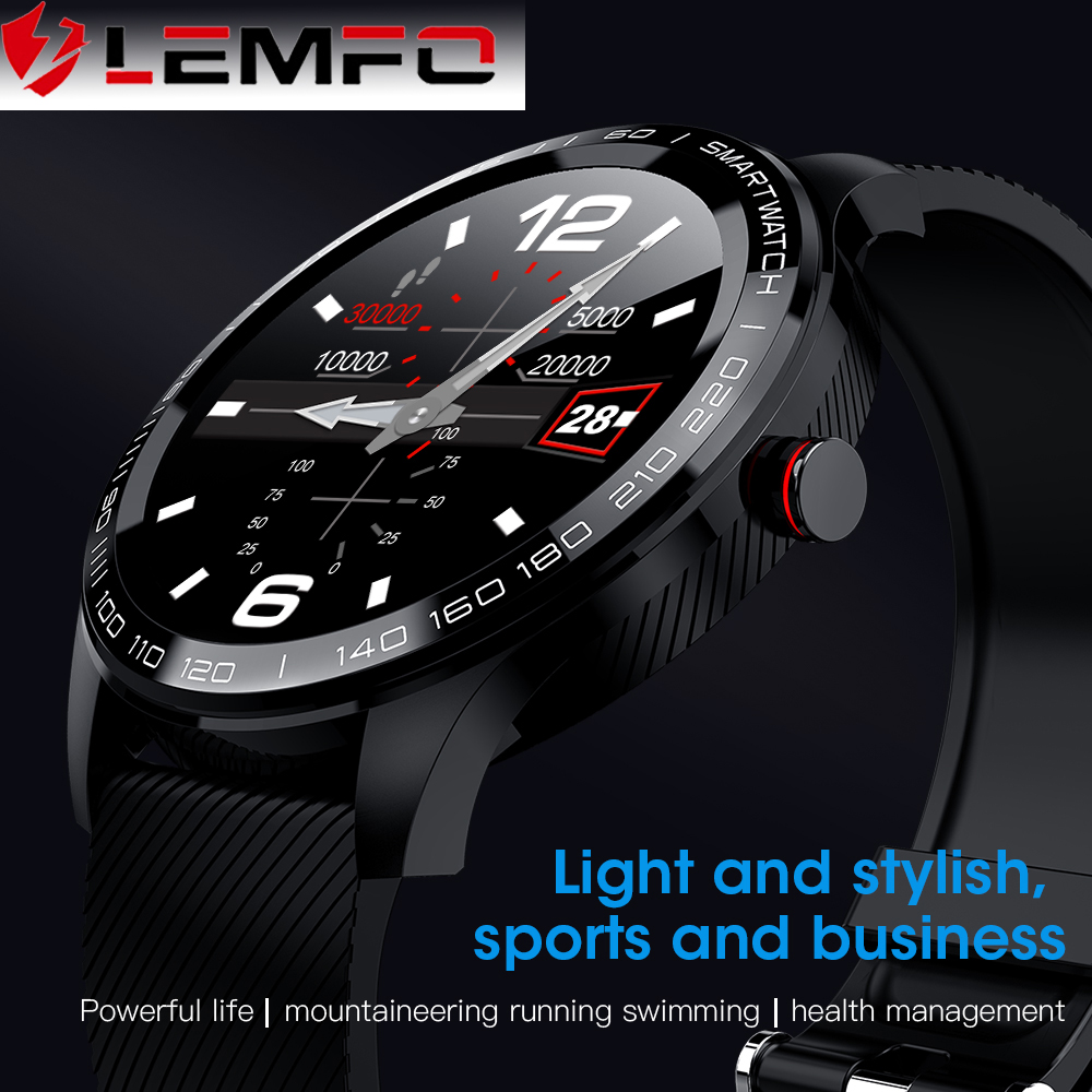 LEMFO IP68 Waterproof Smartwatch Blood-Pressure-Monitor ECG Heart-Rate Full-Screen-Touch