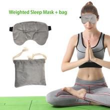 New High-quality Weighted Sleep Eye Mask Soft And Comfortable Night For Travel Sleeping Yoga
