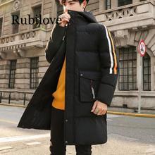 Vestiti di Cotone Imbottito Uomini Mid Lunghezza 2019 Nuovo Inverno di Stile Verso Il Basso Giacca di Cotone Imbottito Vestiti Spazzolato E Cappotto di Spessore Studenti